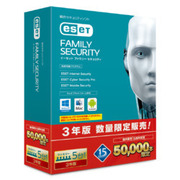 ESET ファミリー セキュリティ 3Y 50000本限定 [パソコンソフト]