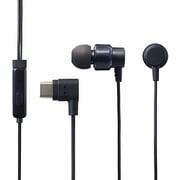 EHP-CACS100MBK [ステレオヘッドホン(マイク付) 耳栓タイプ USB Type-C アナログ 9.2mmドライバ CS100M ブラック]