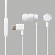 EHP-CACS100MWH [ステレオヘッドホン(マイク付) 耳栓タイプ USB Type-C アナログ 9.2mmドライバ CS100M ホワイト]