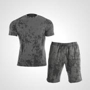 MA037XLGY [3DロゴプリントTシャツ&ハーフパンツ1 XL グレー]