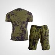 MA037XLKH [3DロゴプリントTシャツ&ハーフパンツ1 XL カーキ]