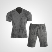 MA038LGY [3DロゴプリントTシャツ&ハーフパンツ2 L グレー]