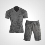 MA038XLGY [3DロゴプリントTシャツ&ハーフパンツ2 XL グレー]