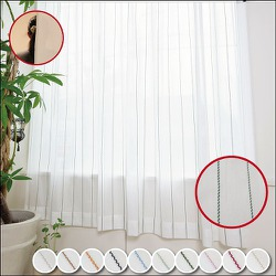 エモーション 遮像断熱UVカットレースカーテン リーフグリーン 幅150×丈176cm 1枚入り