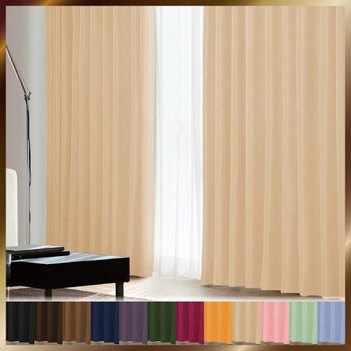 アラカルト 1級遮光カーテン クリームベージュ 幅100×丈90cm 2枚組