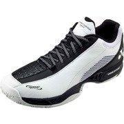 SHT206D パワークッション 206D ホワイト/ブラック 25.5cm [テニスシューズ(オールコート用) 男女兼用]