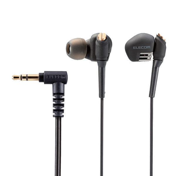 EHP-GB3000ABK [ステレオヘッドホン 耳栓タイプ φ3.5 8.0mm+10.5mmデュアルドライバ Grand Bass GB3000 ブラック]