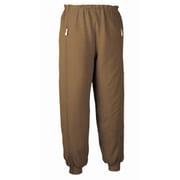 5111 スクエアニット裾リブ付き全開ズボン ブラウン L
