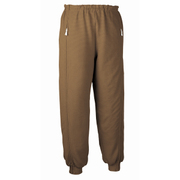 5111 スクエアニット裾リブ付き全開ズボン ブラウン LL