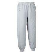 5111 スクエアニット裾リブ付き全開ズボン グレー M