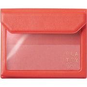 5356 赤 [FLATTY(フラッティ) スタンダード バッグインバッグ カードサイズ 115×94×18mm]