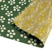 むす美 ふろしき 三巾 福むすび 梅 グリーン/キイロ