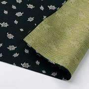むす美 ふろしき 三巾 福むすび 亀 クロ/グリーン