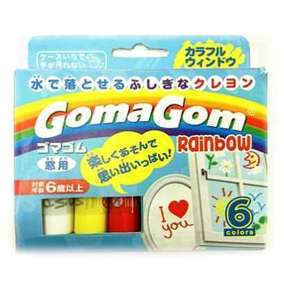 GGM03 [クレヨン GOMAGOM カラフルウィンドウ 6色]