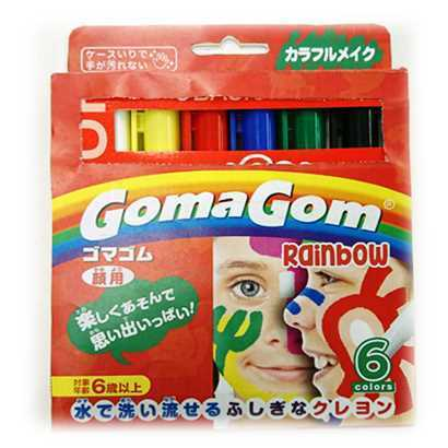 GGM05 [クレヨン GOMAGOM カラフルメイク 6色]