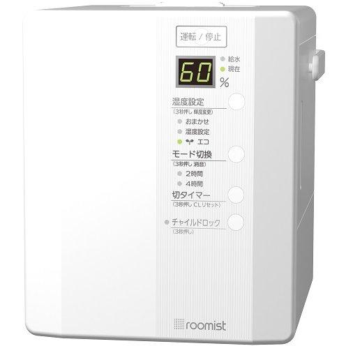 SHE35RD-W [roomist(ルーミスト) スチームファン蒸発式加湿器 木造6畳まで/プレハブ洋室10畳まで 加湿量350mL/h ピュアホワイト]