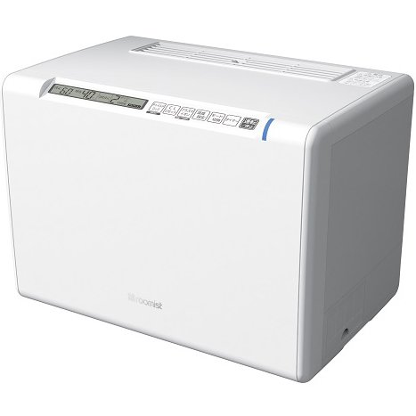 SHE120RD-W [roomist(ルーミスト) スチームファン蒸発式加湿器 木造20畳まで/プレハブ洋室33畳まで 加湿量1200mL/h クリアホワイト]