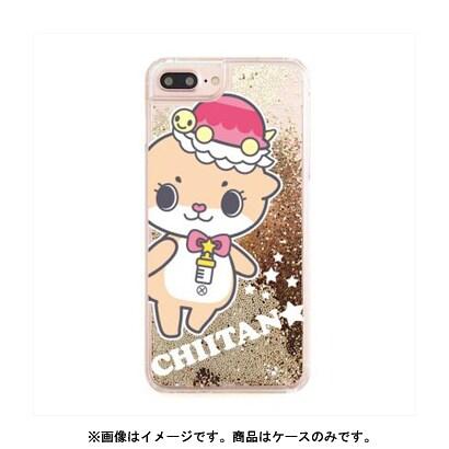 カワウソちぃたん グリッターケース iPhone X Ball Gold POP [キャラクターグッズ]
