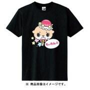カワウソちぃたん Tシャツ POP ブラック レディース 150cm [キャラクターグッズ]