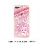 カワウソちぃたん グリッターケース iPhone 6 Plus / iPhone 6S Plus / iPhone 7 Plus / iPhone 8 Plus Heart Pink CUTE [キャラクターグッズ]