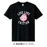 カワウソちぃたん Tシャツ CUTE ブラック レディース 150cm [キャラクターグッズ]