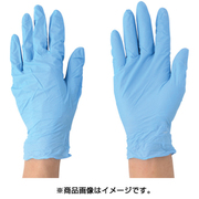 2043-L [ニトリル使いきり手袋 ブルー 粉付 100枚入り Lサイズ]