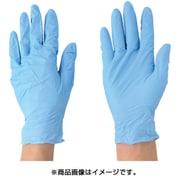 2043-M [ニトリル使いきり手袋 ブルー 粉付 100枚入り Mサイズ]