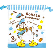 ディズニー フラットランチ巾着 ドナルド チップ&デール [キャラクターグッズ]