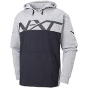 32JC856005 NXT スウェットシャツ ユニセックス グレー杢×ブラック Lサイズ