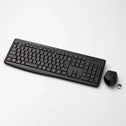 TK-FDM092SMBK [ワイヤレスフルキーボード 日本語キーボード メンブレン式 静音設計 マルチファンクション専用キー付 BlueLED静音マウス付 ブラック]
