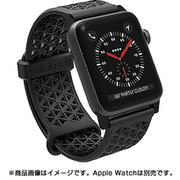 CT-SBAW1738-BK [Apple Watch 38mm シリーズ 1/2/3用 スポーツバンド ステルスブラック]