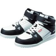 NS322W-28.0 [シモン 安全スニーカー 編上靴 紐 NS322ホワイト 28.0cm]