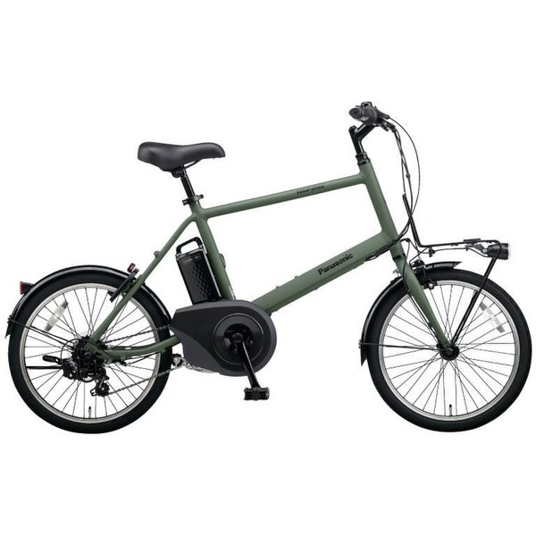 BE-ELVS07G [電動アシスト自転車 VELOSTAR・MINI(ベロスター・ミニ) 20型 外装7段変速 8.0Ah マットオリーブ 2019年モデル]