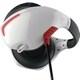 PSVR用 マイク付きバックバンドヘッドホン ホワイト×レッド