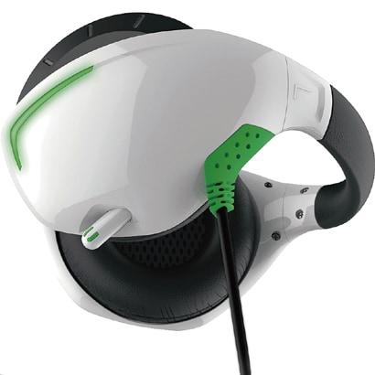 PSVR用 マイク付きバックバンドヘッドホン ホワイト×グリーン