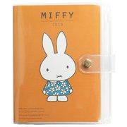 MF482C [miffy 家計簿付き手帳 A6 フラワードレスオレンジ]