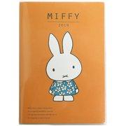 MF483C [miffy 家族手帳 B6 薄型 フラワードレスオレンジ]