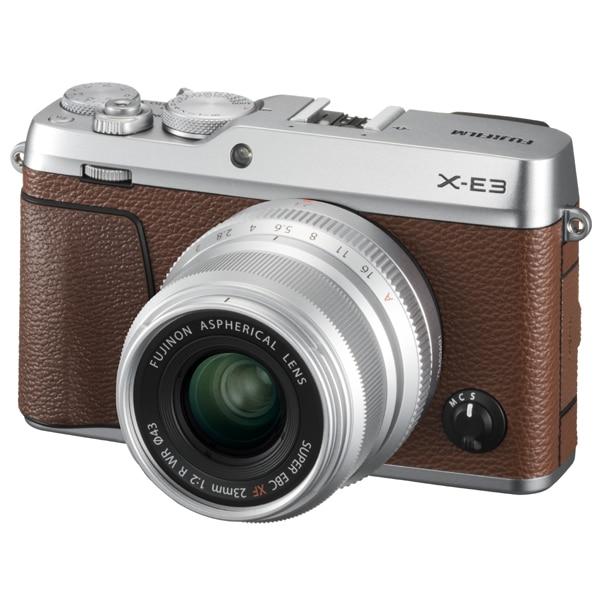 X-E3/XF23mm F2 R WR キット ブラウン [ボディ+交換レンズ「XF23mm F2 R WR(シルバー)」]