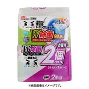 激落ちくん 流せる除菌トイレクリーナー (24枚入×2個パック) 99.9%除菌 [トイレ清掃用品]