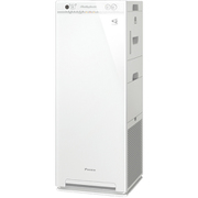 MCK55V-W [加湿ストリーマ空気清浄機 スリムタワータイプ 加湿:14畳まで(プレハブ)/8.5畳まで(木造) 空気清浄:25畳まで ホワイト]
