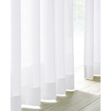 FL55682 [遮熱ミラーレースカーテン 2枚組 ホワイト 100×108cm]