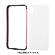 INA-P19AB/RM [iPhone XS Max用 アルミバンパー+背面パネル レッド]