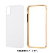 INA-P20AB/CGM [iPhone XS用 アルミバンパー+背面パネル ゴールド]
