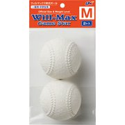 BB7061 [軟式野球ボール ウィルマックス軟式ボールM号 2個 一般用、中学生用 BB7061]