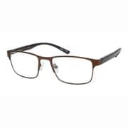 UN49 ブラウンマット/チェック +1.0 [Reading Glasses Collection スタンダードシリーズ メンズ]