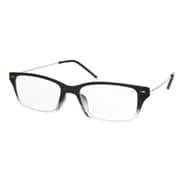 AR03 ブラックハーフ/シルバー +1.5 [Reading Glasses Collection Air Reader メンズ]