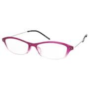 AR04 パープルハーフ/シルバー +2.0 [Reading Glasses Collection Air Reader レディース]