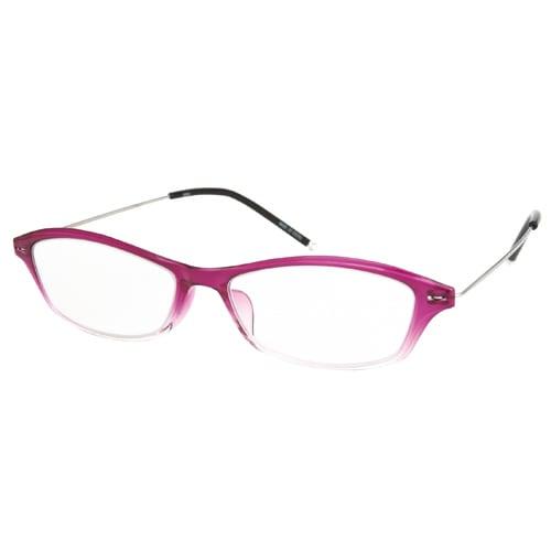 AR04 パープルハーフ/シルバー +3.5 [Reading Glasses Collection Air Reader レディース]