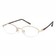 PR23 ゴールド/ブラウン +3.5 [Reading Glasses Collection パソコンリーダー ブルーライトカット]