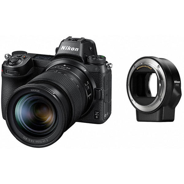 ニコン Z6 24-70+FTZマウントアダプターキット [ボディ+交換レンズ「NIKKOR Z 24-70mm f/4 S」+マウントアダプター「FTZ(レンズ側:ニコンF / ボディ側:ニコンZ)」]
